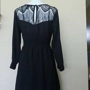 NWOT- Black Dress w/ lace back- sz. S